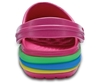 Picture of CROCS rainbow band kids 205205 paradise pink