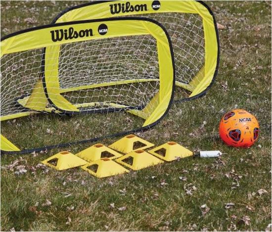 WILSON komplet gol + žoga WTE3007KOT ULTIMATE BACKYARD SOCCER KIT